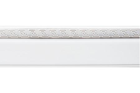 Бленда 50мм для пласт. карниза Ариадна, Белый с хромом (уп.3,5м)