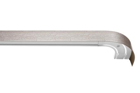 Карниз пластиковый в комплекте с блендой, кракелюр серебро