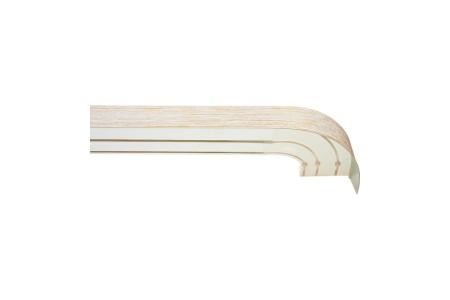 Карниз пластиковый в комплекте с блендой, белый золото