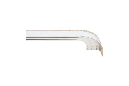 Карниз пластиковый Ариадна в комплекте с блендой, белый с золотом