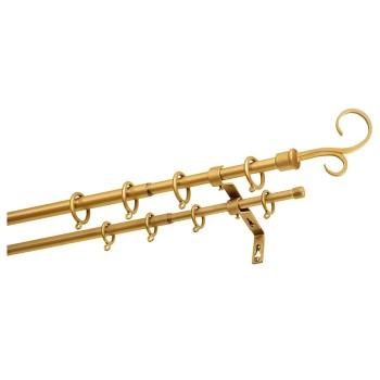 Карниз телескопический двухрядный Руно золото