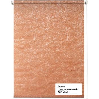 Рулонная штора Фрост оранжевый