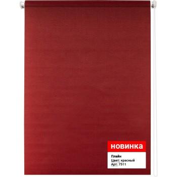 Рулонная штора Плайн красный