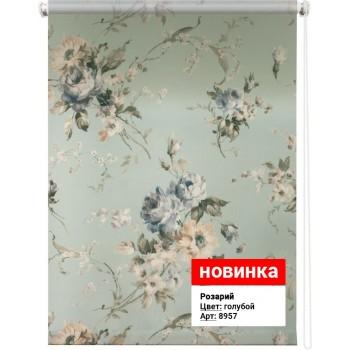 Рулонная штора Розарий голубой