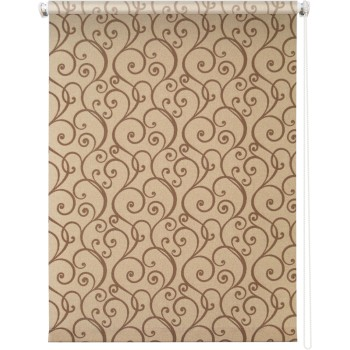 Рулонная штора Ампель коричневый